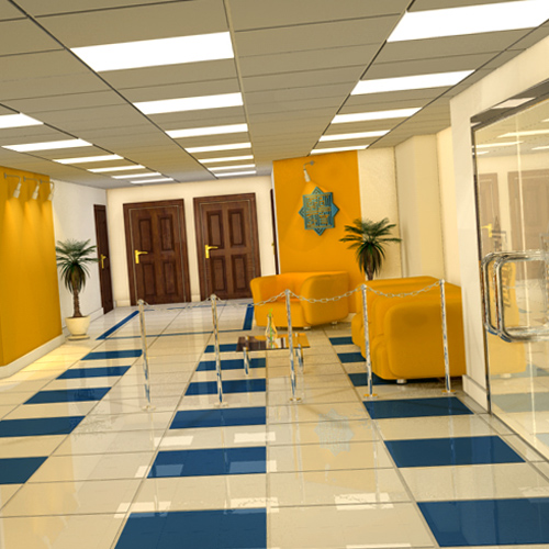 Tadhamon Islamic Bank Interior 3d Design